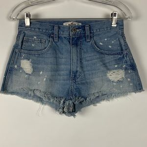 Hollister Faded Jean shorts Distressed cut off